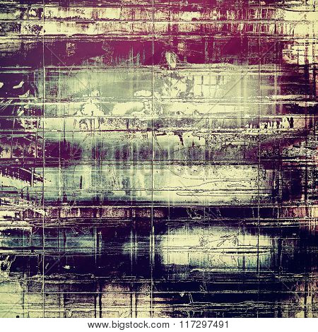 Old grunge textured background. With different color patterns: yellow (beige); blue; gray; pink; purple (violet)