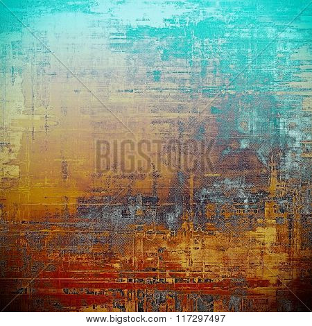 Old, grunge background or ancient texture. With different color patterns: yellow (beige); brown; red (orange); blue; gray