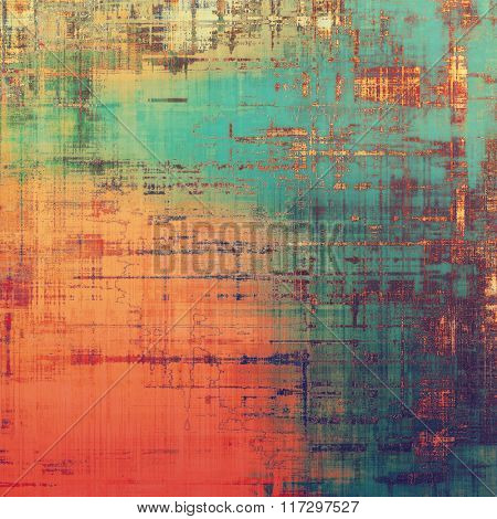 Grunge colorful texture for retro background. With different color patterns: yellow (beige); brown; red (orange); blue; green