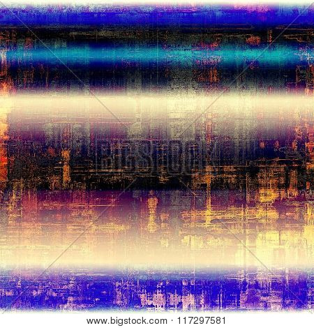 Old grunge textured background. With different color patterns: yellow (beige); blue; pink; purple (violet); black