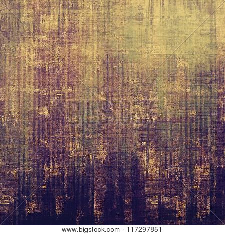 Old school textured background. With different color patterns: yellow (beige); brown; purple (violet); gray
