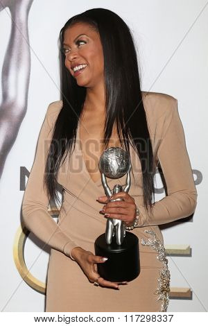 LOS ANGELES - FEB 5:  Taraji P. Henson at the 47TH NAACP Image Awards Press Room at the Pasadena Civic Auditorium on February 5, 2016 in Pasadena, CA