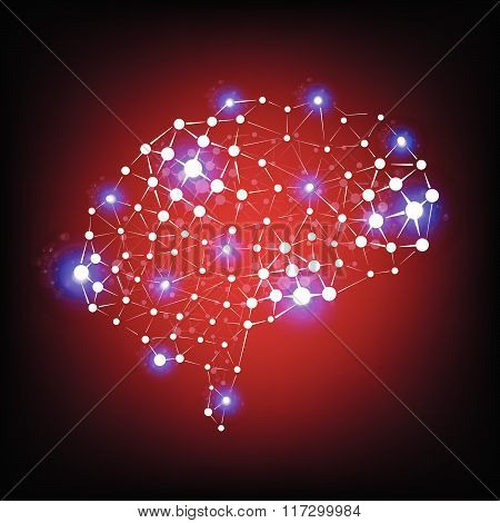 The Human Brain Vector Background