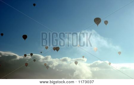 Balloons In The Morning Mist