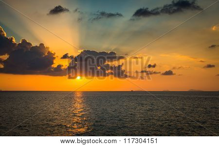 Scenery Of The Sea During Sunset