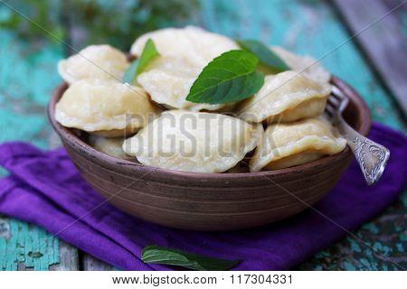 Dumplings with cottage cheese, Ukrainian dish