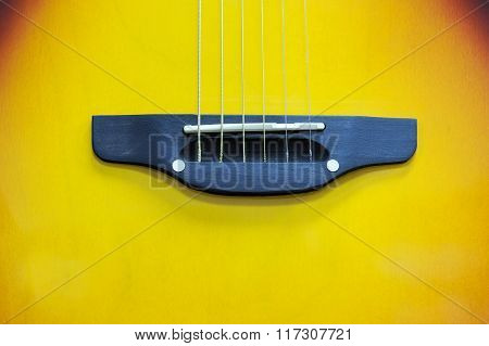 Close-up Acoustic Guitar