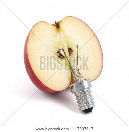 Apple Lightbulb, Concept Of Green Energy