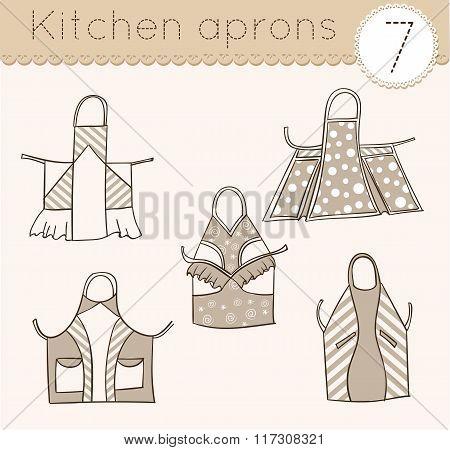 Set Of Kitchen Aprons 7