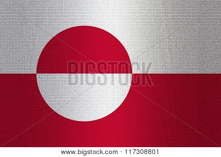 Flag Of Greenland On Stone