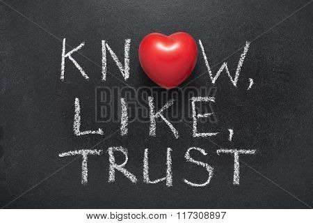 Know,like,trust Heart