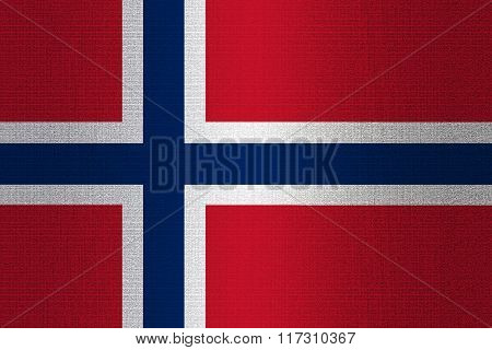 Flag Of Norway On Stone