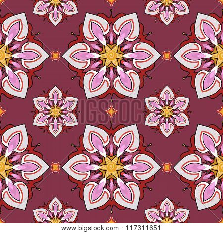 Summer theme seamless pattern