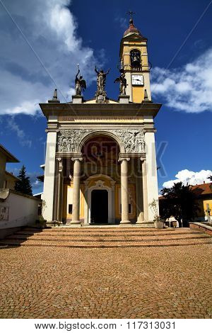 Varese Italy   The Old Wall Terrace Church Watch Bell Tower