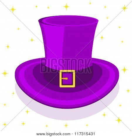 Magic cylinder hat, vector illustration