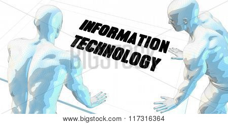 Information Technology Discussion and Business Meeting Concept Art