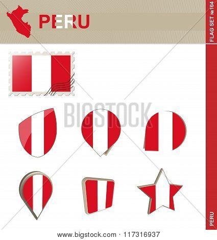 Peru Flag Set, Flag Set #104