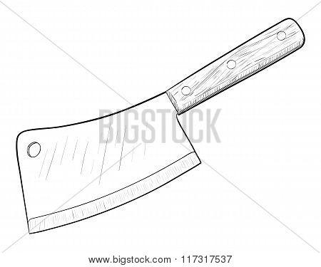 Kitchen knife illustration
