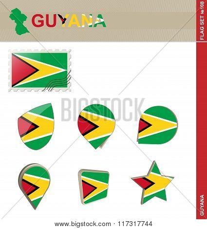 Guyana Flag Set, Flag Set #108