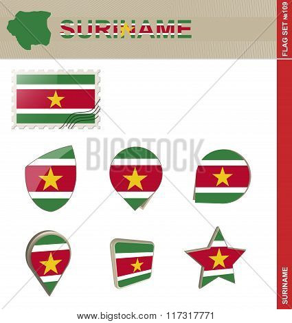 Suriname Flag Set, Flag Set #109