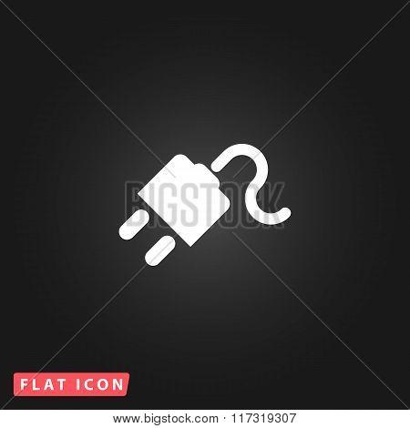 power cord flat icon