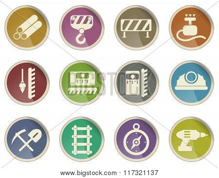 Building equipment icons