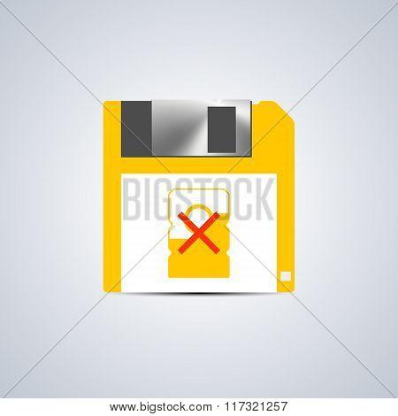 Icon Write Error, Vector Illustration.