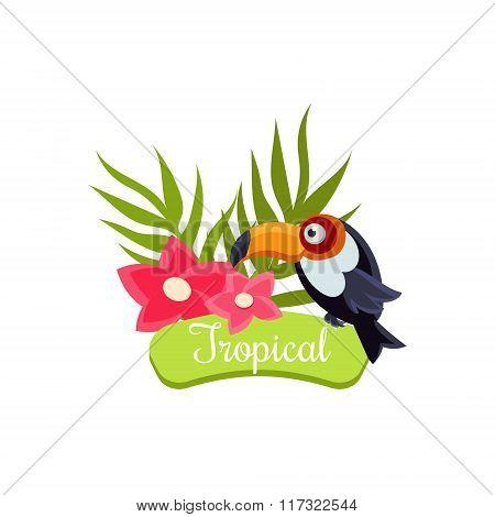Tropical Vacation. Vector Illustration