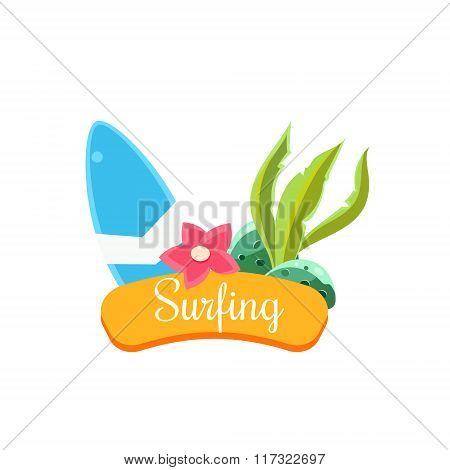 Summer Surfing. Vector Illustration