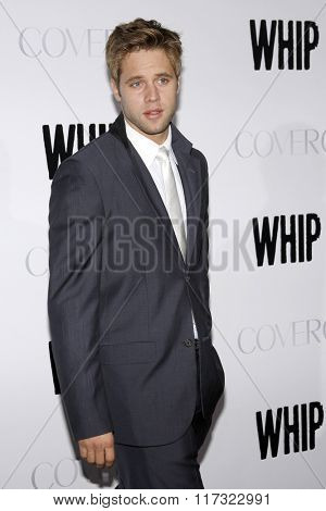 Shaun Sipos at the Los Angeles Premiere of
