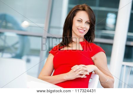 Modern successful business woman