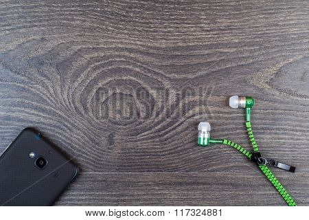 Earphones And Phone