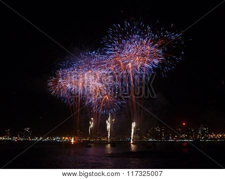New Year Celebrations With Colorful Firework
