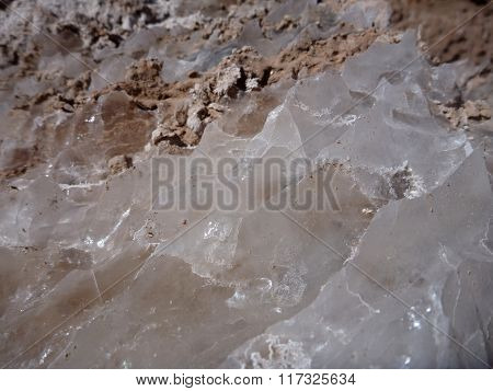 Detail Of Salt Crystals In Valle De La Luna In Chile