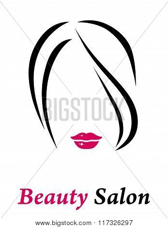 hair salon sign with woman silhouette