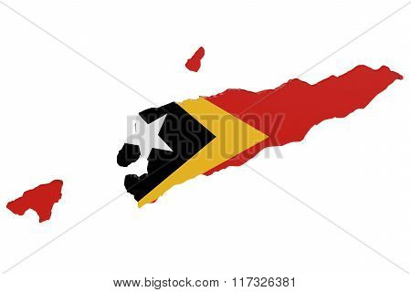 East Timor Flag Map