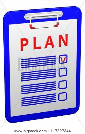 Clipboard With Word Plan
