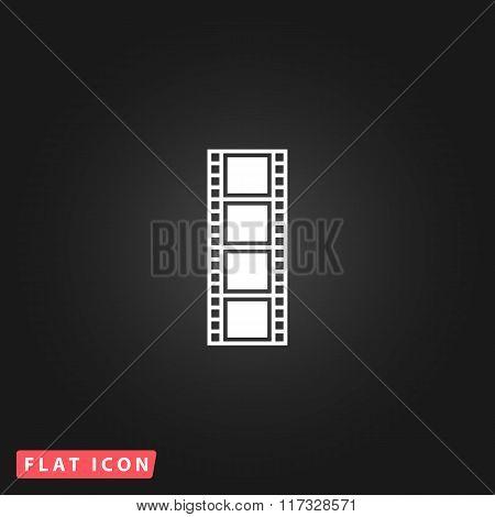 cinematographic film flat icon