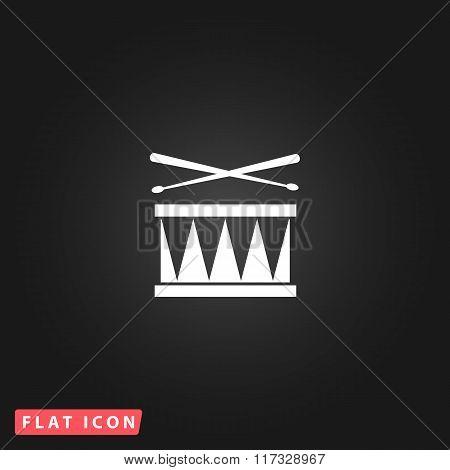 Drum Icon Isolated
