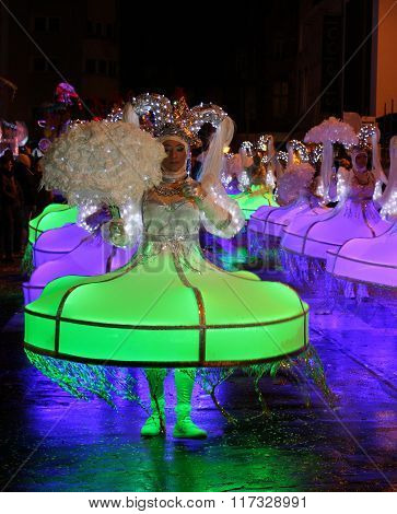 Illuminated Carnival Dancers