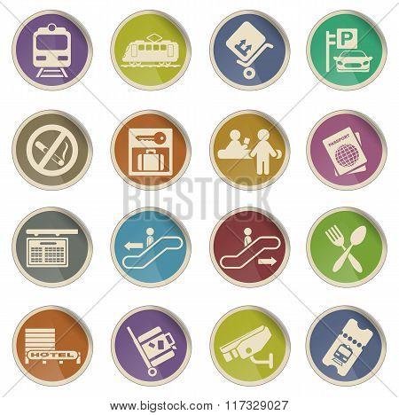 Train station symbols