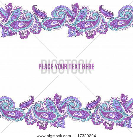 Abstract paisley border