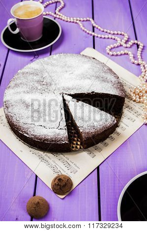 Chocolate cake with ginger