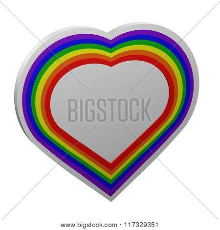 Concept: Gay Heart Shape Sign