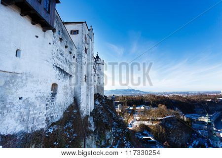 The Wall Of Hohensalzburg Castle