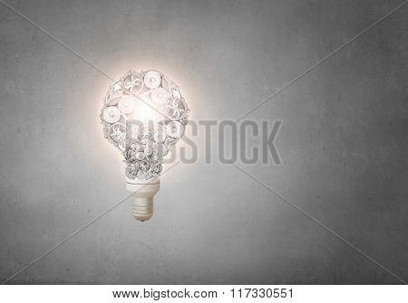 Gears light bulb