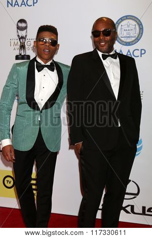 LOS ANGELES - FEB 5:  Bryshere Yazz Gray, Lee Daniels at the 47TH NAACP Image Awards Arrivals at the Pasadena Civic Auditorium on February 5, 2016 in Pasadena, CA
