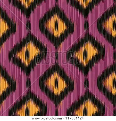 Seamless Ikat Pattern