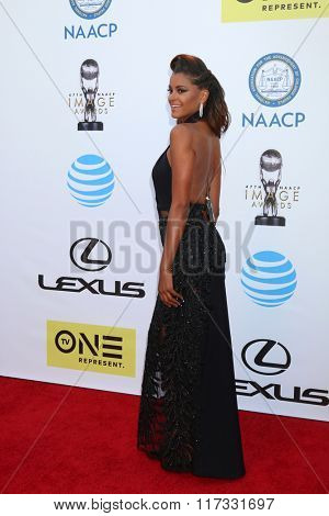 LOS ANGELES - FEB 5:  Claudia Jordan at the 47TH NAACP Image Awards Arrivals at the Pasadena Civic Auditorium on February 5, 2016 in Pasadena, CA