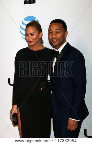 LOS ANGELES - FEB 5:  Chrissy Teigen, John Legend at the 47TH NAACP Image Awards Arrivals at the Pasadena Civic Auditorium on February 5, 2016 in Pasadena, CA